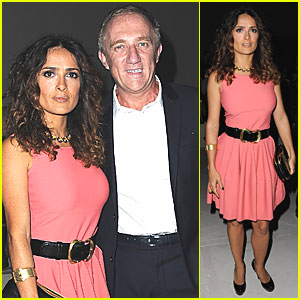 Salma Hayek: Alexander McQueen Show at Paris Fashion Week!