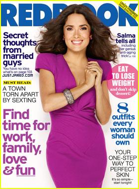 Salma Hayek Covers 'Redbook' November 2011