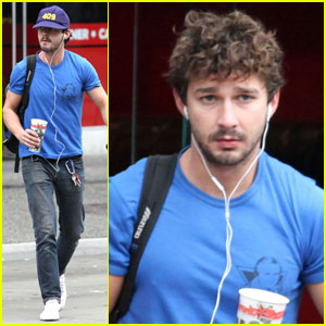 Shia LaBeouf Lunches at Chronic Tacos