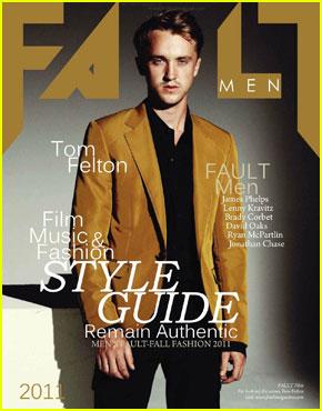 Tom Felton Covers 'Fault Men' Fall 2011