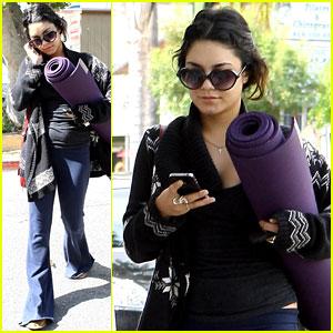 Vanessa Hudgens: Purple Yoga Pretty