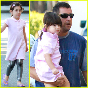 Adam Sandler Takes Sadie & Sunny to the Gym