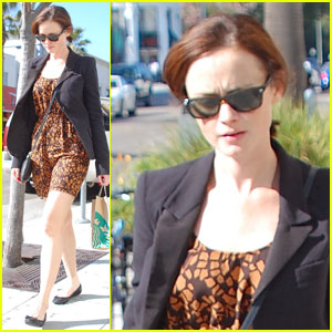 Alexis Bledel: Starbucks Stop in Beverly Hills