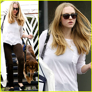 Amanda Seyfried & Finn: Fred Segal Shoppers!