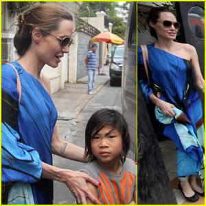 Brad Pitt & Angelina Jolie Visit Vietnam With Kids