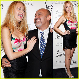 Blake Lively: Christian Louboutin Cocktail Cutie!