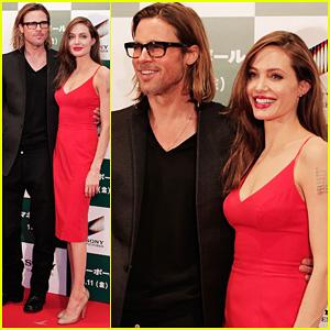 Brad Pitt & Angelina Jolie: 'Moneyball' Japan Premiere!