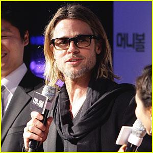 Brad Pitt: 'Moneyball' Premiere in South Korea!