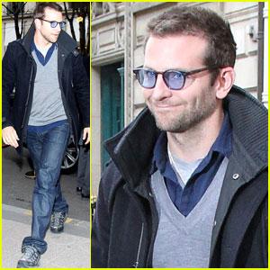 Bradley Cooper: Ralph Lauren Lunch in Paris