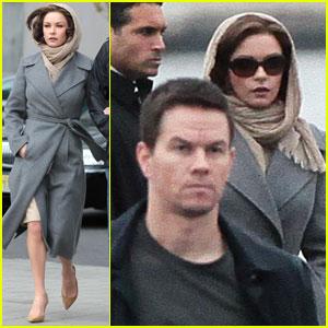 Catherine Zeta-Jones & Mark Wahlberg: 'Broken City' Set