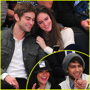 Chace Crawford & Amanda Laine: Hockey Game Double Date?
