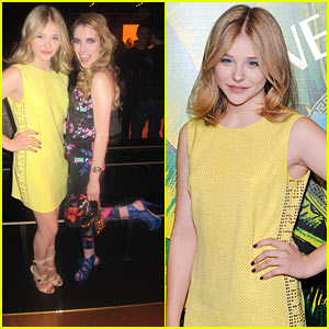 Chloe Moretz: Versace for H&M Launch Party with Emma Roberts!