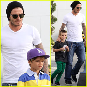 David Beckham: Shopping with Romeo & Cruz!