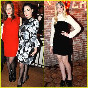 Dita Von Teese & Elle Fanning: Lanvin Ladies