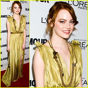 Emma Stone Goes Glam for Glamour!