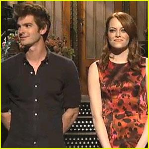 Emma Stone & Andrew Garfield: SNL Monologue!