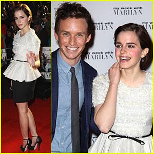 Emma Watson: 'My Week with Marilyn' Premiere with Eddie Redmayne!