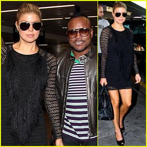 Fergie & The Black Eyed Peas Arrive in Brazil