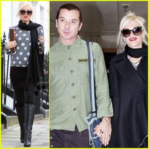 Gwen Stefani & Gavin Rossdale Head Out of Heathrow
