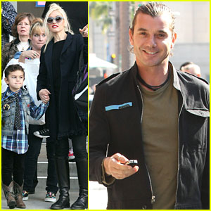 Gwen Stefani & Gavin Rossdale Catch A Show with the Kids