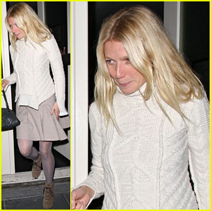 Gwyneth Paltrow: Dinner with Guy Ritchie & Jacqui Ainsley!