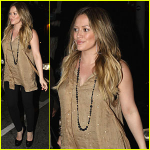 Hilary Duff: Vetro Dinner with Haylie & Mike!
