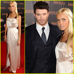 Isabel Lucas: 'Immortals' Premiere with Kellan Lutz!