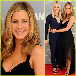 Jennifer Aniston: Glamour Awards with Chelsea Handler!