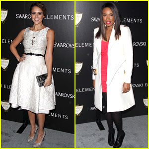 Jessica Alba: Holiday Lighting Ceremony with Jennifer Hudson!