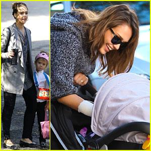 Jessica Alba & Cash Warren: Family Sunday Fun!