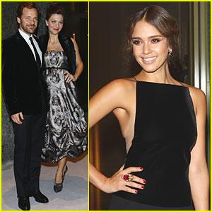 Jessica Alba: Armani Hotel Milano Opening with Maggie Gyllenhaal!