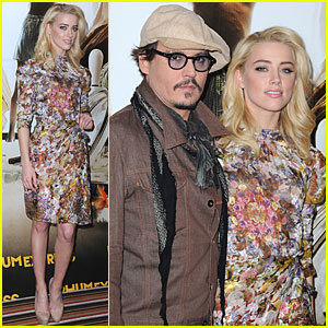 Johnny Depp & Amber Heard: 'Rum Diary' in Paris!