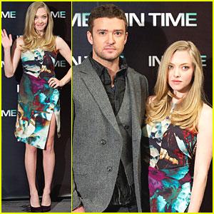 Amanda Seyfried & Justin Timberlake: 'In Time' in Madrid!