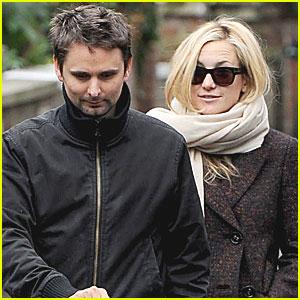 Kate Hudson, Matt Bellamy & Baby Bing Stroll in London