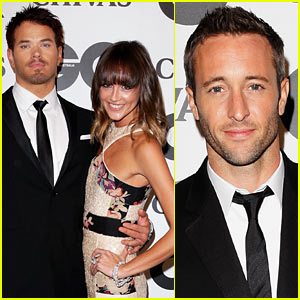 Kellan Lutz: GQ Australia Men of the Year Awards with Sharni Vinson!