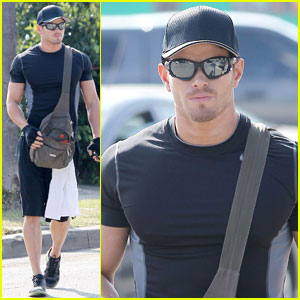 Kellan Lutz Works It Out in Santa Monica
