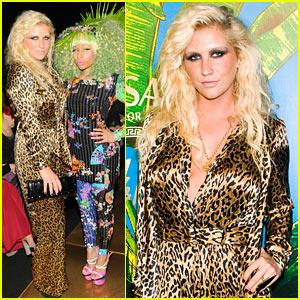 Ke$ha: Versace for H&M Party with Nicki Minaj!