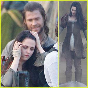Kristen Stewart & Chris Hemsworth: 'Snow White' in Surrey!