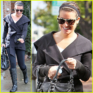 Lea Michele: Shooting Quinn &#038; Rachel Scenes!