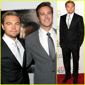 Leonardo DiCaprio: 'J. Edgar' Opening Night Gala with Armie Hammer!