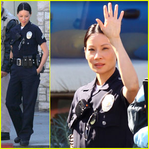 Lucy Liu: 'Southland' Set With Michael Cudlitz!