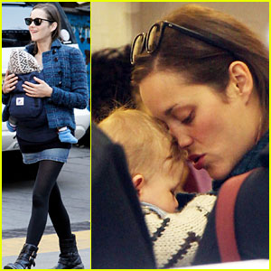 Marion Cotillard & Marcel Share a Moment in NYC