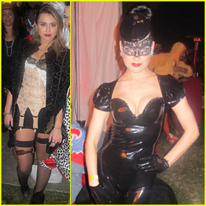 Miley Cyrus & Dita Von Teese: Maroon 5 Halloween Party!