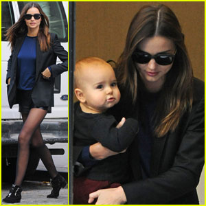 Miranda Kerr Strolls Through Soho With Flynn
