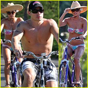 Nick Lachey & Vanessa Minnillo: Toned & Buff Beach Bike Ride!