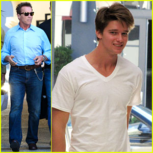 Patrick Schwarzenegger: Haircut with Dad & Christopher!