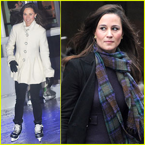 Pippa Middleton: Ice Skating at Tree Lighting Event!