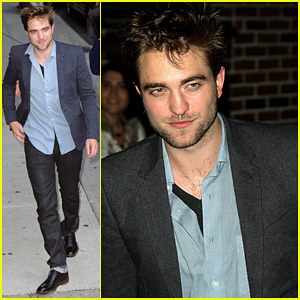 Robert Pattinson: 'Late Show' with Letterman!
