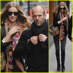 Rosie Huntington-Whiteley: Soho Stroll With Jason Statham!