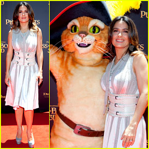 Salma Hayek Brings 'Puss in Boots' to Australia!